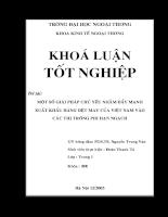 Một số giải pháp chủ yếu nhằm đẩy mạnh xuất khẩu hàng dệt may của Việt Nam vào các thị trường phi hạn ngạch.doc