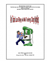 An toàn lao động và môi trường công nghiệp