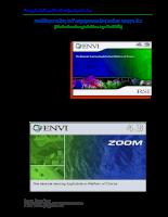 Hướng dẫn sử dụng phần mềm ENVI 4.3