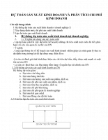 Dự toán sản xuất kinh doanh và phân tích chi phí kinh doanh về công ty sản xuất mì ăn liền_bài kế toán quán trị.doc