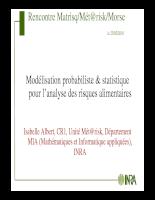 Modélisation probabiliste & statistique pour l'analyse des risques alimentaires