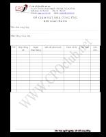 Mẫu Sổ giám sát nhà cung ứng khi giao hàng