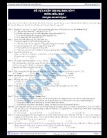 Tài liệu ôn tập 11: tự luyện thi đại học số 07