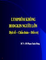 LYMPHOM không HODGKIN người lớn Dịch tễ - chẩn đoán - điều trị