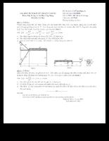 đề thi + đáp án sức bền vật liệu