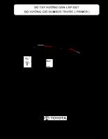 Hướng dẫn lắp đặt và sử dụng phụ kiện trên xe ô tô TOYOTA VIOS - P1