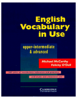 Cambridge University Press English Vocabulary In Use Upper-Int