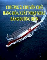 Slide bài giảng môn vận tải quốc tế - Chương đường biển