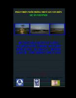Hướng dẫn quản lý chất lượng nước trong ao nuôi tôm sú dành cho cán bộ phụ trách nuôi trồng thuỷ sản