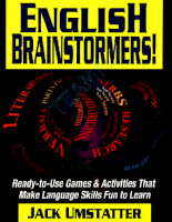 Jossey Bass English Brainstormers Ready-To-Use Games And Activities