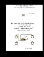 Tài liệu sửa chữa và bảo dưỡng hệ thống phanh