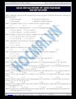 Bài 25: Cấu tạo nguyên tử - Bảng tuần hoàn