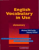 Cambrige University Press English Vocabulary in Use - Elem