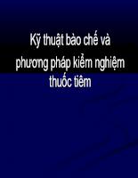 Kỹ thuật bào chế thuốc nang  và phương pháp kiểm nghiệm - Chương 6