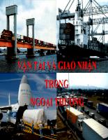 Slide bài giảng môn vận tải quốc tế - Chương vận tải và buôn bán quốc tế