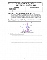 Mạch khuếch đại dùng transistor trường (fet)