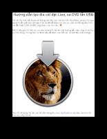 Hướng dẫn tạo đĩa cài đặt Lion, cả DVD lẫn USB