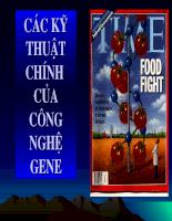 Các kỹ thuật chính của công nghệ gen