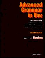 Cambridge University Press English Advanced Grammar In Use