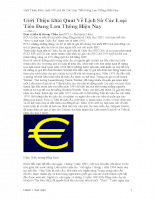 Giới Thiệu khái Quát Về Lịch Sử Các Loại Tiền Đang Lưu Thông Hiện Nay