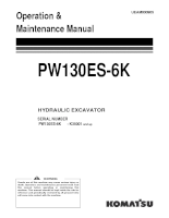 Shop manual máy đào KOMATSU PW130ES-6K