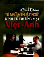 Thuật ngữ Việt - Anh chuyên ngành kinh tế - thương mại.