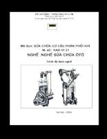 Tài liệu sửa chữa cơ cấu phân phối khí