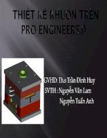 thiết kế khuôn sử dụng phần mềm pro/engineer 5.0
