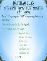 Ứng dụng của CNSH trong tạo nguồn hoa huệ sạch bệnh