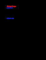 Chi tiết máy - Bài tập ổ trục
