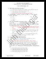 130 câu trắc nghiệm môn tài chính quốc tế + đáp án