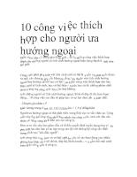 10 công việc thích hợp cho người ưa hướng ngoại