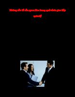 Những vấn đề cần quan tâm trong quá trình giao tiếp quản lý