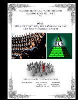 Tìm hiểu việc tham gia bán hàng đa cấp của sinh viên.doc