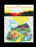 Năng lượng mặt trời Lý thuyết và Ứng dụng - Chương 3