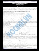 Tài liệu ôn tập 15:  tự luyện thi đại học số 01