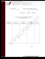 Mẫu Danh mục hồ sơ Văn phòng hội đồng nhân dân và ủy ban nhân dân
