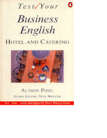 Penguin Books Test Your Business English Hotel And Catering