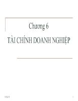 Bài giảng lý thuyết tài chính tiền tệ - chương 6 - Tài chính doanh nghiệp