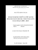 Hoạch định chiến lược kinh doanh Ngân hàng thương mại cổ phần Sài Gòn giai đoạn 2008 – 2013