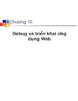 Chương 10: Debug và triển khai ứng dụng Web