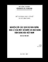 Nghiên cứu các dịch vụ bán buôn, bán lẻ của một số nước và khả năng vận dụng vào Việt Nam.pdf