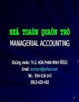 Kế toán quản trị managerial accounting