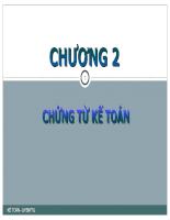 Nguyên lý kế toán Chap 2