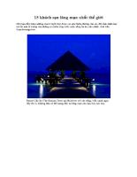 15 khách sạn lãng mạn nhất thế giới