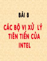 Bài giảng cấu trúc máy tính - P8