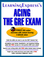 Learning express Acing The Gre