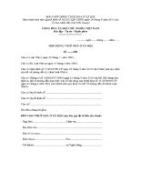 mẫu hợp đồng cho thuê nhà ở xã hội