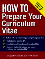 Mcgraw Hill How To Prepare Your Curriculum Vitae