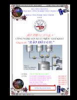 Công nghệ sản xuất nước giải khát - chuyên đề